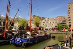 Navios no porto velho Rotterdam Foto de Stock