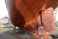 Navios velhos, porto de Essaouira, Marrocos fotos de stock royalty free