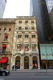Navire amiral de Versace, cinquième avenue, Manhattan, New York City image libre de droits