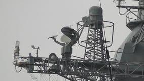 Navire amiral Russie de radar banque de vidéos