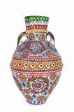 Navire coloré décoré égyptien de poterie (Kolla) Image libre de droits