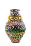 Navire coloré décoré égyptien de poterie (Kolla) Photo libre de droits