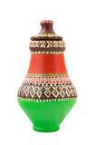 Navire coloré décoré égyptien de poterie (l'arabe : Kolla) Photographie stock