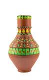 Navire coloré décoré égyptien de poterie (l'arabe : Kolla) Photo stock