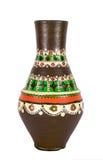 Navire coloré décoré égyptien de poterie (l'arabe : Kolla) Photos stock