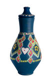 Navire coloré décoré égyptien de poterie (l'arabe : Kolla) Image stock