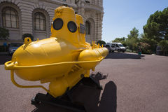 Navire d'explorateur Jacques Cousteau au musée océanographique, Monaco Photos stock