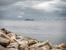 Navire de guerre polonais de marine Image libre de droits