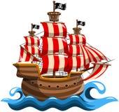 Navire de pirate illustration libre de droits