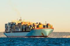Navire porte-conteneurs images stock