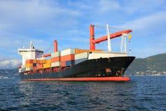 Navire porte-conteneurs Photographie stock