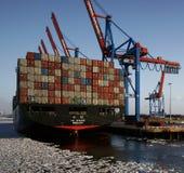 Navire porte-conteneurs Photo libre de droits
