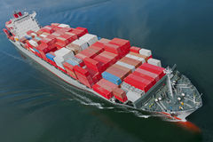 Navire porte-conteneurs Photographie stock libre de droits