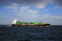 Navire porte-conteneurs Image libre de droits