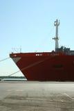 Navire porte-conteneurs au dock Photo libre de droits