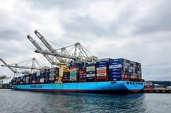 Navire porte-conteneurs de groupe de Maersk Images stock