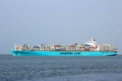 Navire porte-conteneurs de Maersk Photo libre de droits