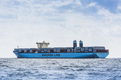Navire porte-conteneurs Maribo Maersk Photo stock
