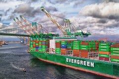 Navire porte-conteneurs - port de Los Angeles photographie stock