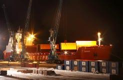 Navire porte-conteneurs Talnach Image libre de droits