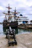 Navire Santa Maria da Colombo, Madère, Funchal, Portuga de vintage image stock