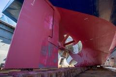 Navire sur la partie sévère de dock Photographie stock