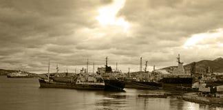 Navires de charge pour la chute Photographie stock