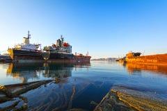 Navires de charge pour la chute Photo stock