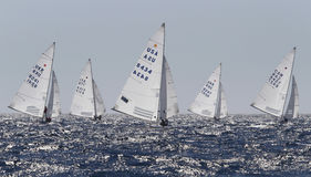 Navires de classe d'étoile naviguant la régate Photo libre de droits