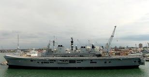 Navires de guerre britanniques Images libres de droits