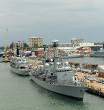 Navires de guerre britanniques Photographie stock libre de droits
