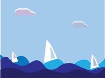 Navires de navigation illustration de vecteur