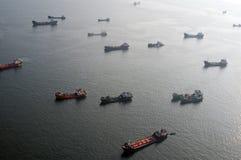 Navires porte-conteneurs Photos stock