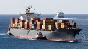 Navires porte-conteneurs Photo libre de droits