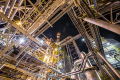 navodari night oil refinery romania Στοκ Εικόνα