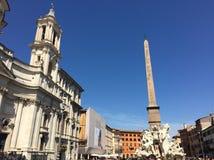 Navon Piazza Navona Piazza. Roma Square stock photos