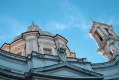 Navona Италия Рим аркады стоковое изображение