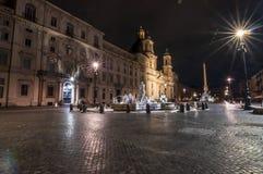Navona fyrkant i Rome, Italien fotografering för bildbyråer