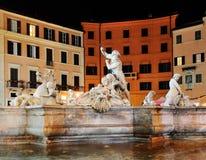 navona noc piazza Zdjęcie Stock