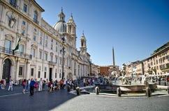navona piazza Rome Zdjęcia Stock