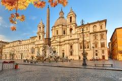 navona piazza Rome Obraz Royalty Free