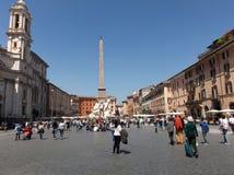 navona Rome kwadrat zdjęcie royalty free