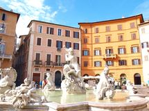 Navona square Stock Photography
