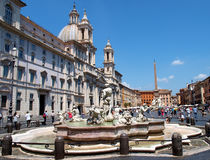 Navona square Royalty Free Stock Images