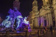 Navona square baroque roma by night Royalty Free Stock Photos