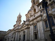 Navona Square Buildings Facades In Rome, Italie Royalty Free Stock Photo