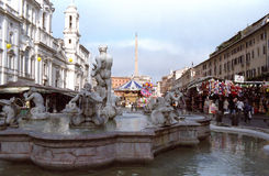 Navona square in Rome Royalty Free Stock Image