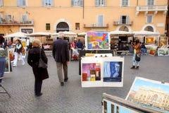 Navona Square, Rome Stock Image