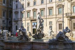 Navona Square in Rome, Italy. Rome, Italy - April 5, 2019: Cityscape and generic architecture from Rome, the Italian capital. Navona Square stock image