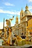 navonapiazza rome Royaltyfri Foto